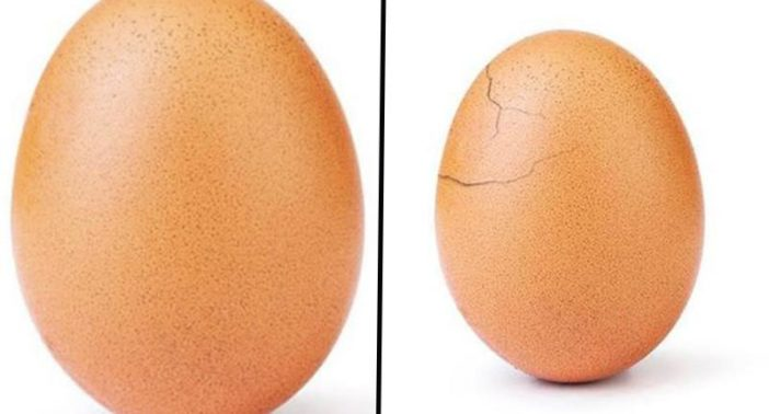 This picture of an egg was used to promote mental health awarness.