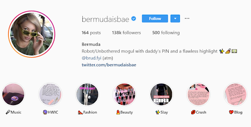 Bermuda another CGI influencer in digital marketing space who have 100k plus followers.