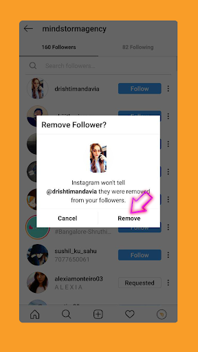 Instagram is a social media platform where you can removed your followers.