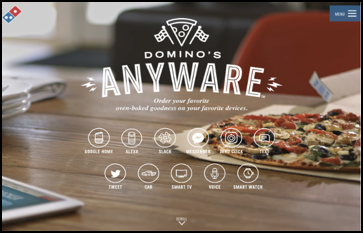 """Domino's Anyware"" means that you can now order pizza from any smart devices"