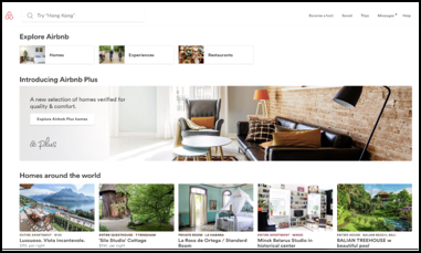 Airbnb stepped up their game with their webste and social media