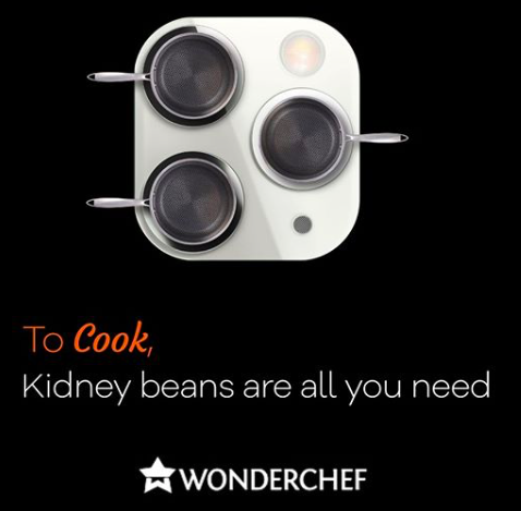 Wonderchef came up with a very creative idea after Iphone 11-Pro's launch