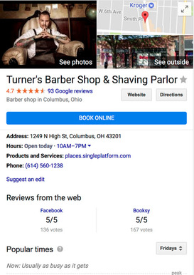 Google lets you route the users directly to a landing page for booking an appointment