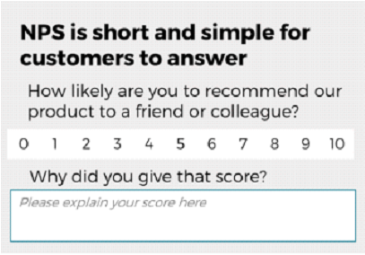 NPS - Net promoter score explains how likely is your brand recommended
