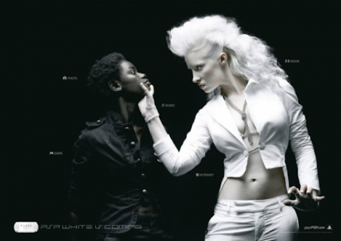 Sony's (PSP AD) biggest failed marketing campaign of white woman overpowering a black woman.