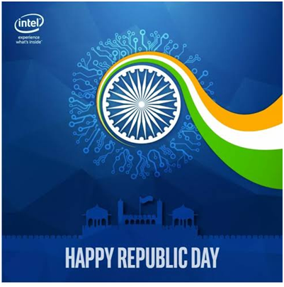 Intel Post for Republic Day in India for social media