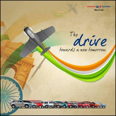 Maruti Suzuki Post for Republic Day in India for social media