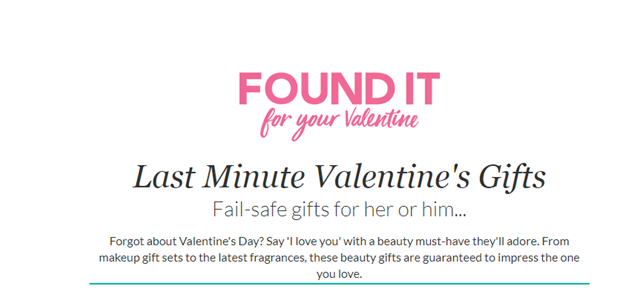 Debenhams, Last Minute Gifts had a great digital campaign for its viewers