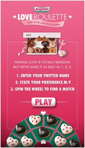 Krispy Kreme, Roulette: had a great digital campaign for its viewers
