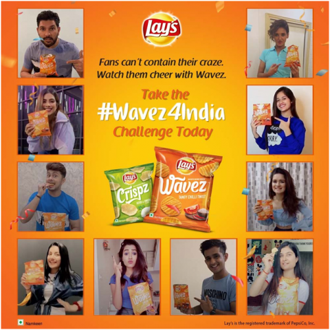 TikTok campaign promoted in India to engage audience by lays