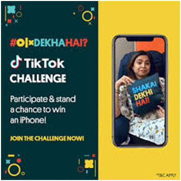 TikTok campaign promoted in India to engage audience by OLX