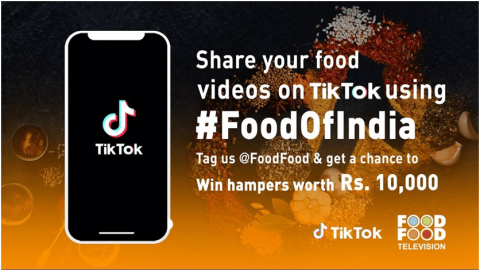 TikTok campaign promoted in India to engage audience by fooffood