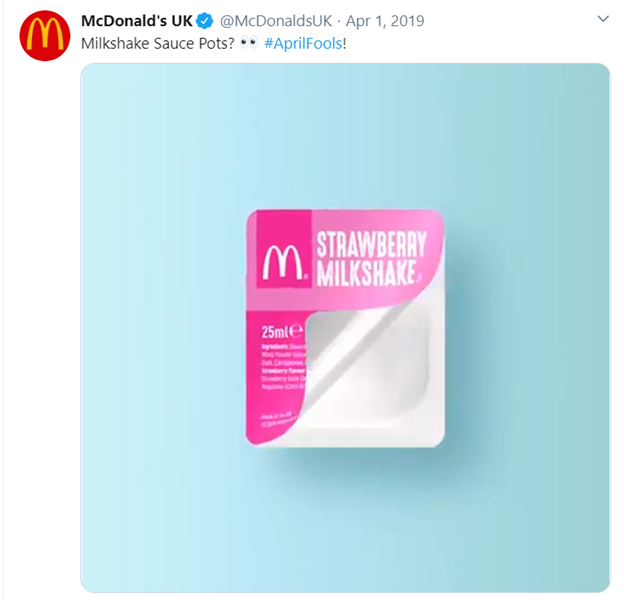 April fools day digital marketing campaigns in 2019 by McDonald's