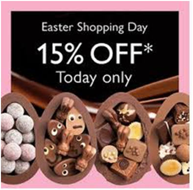 Campaign on the occassion of easter 2019 by Hotel Chocolate