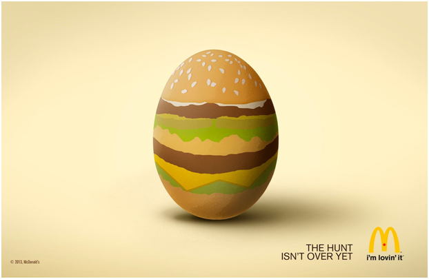 Campaign on the occassion of easter 2019 by McDonald's