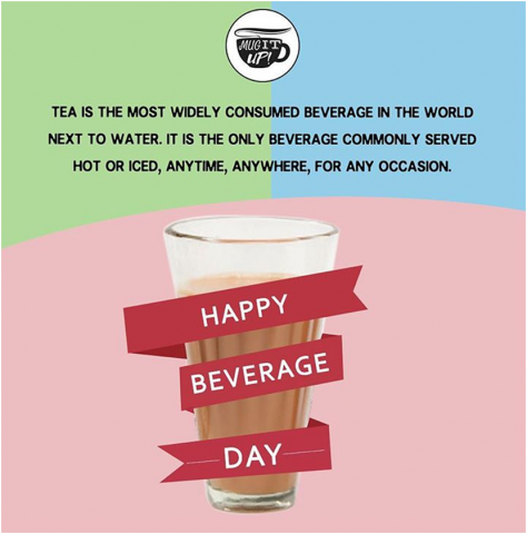 Post on the occasion of National Beverage Day 2019 by MugItUp